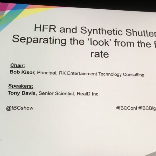 hfr and synthetic shutter by Tony Davis
