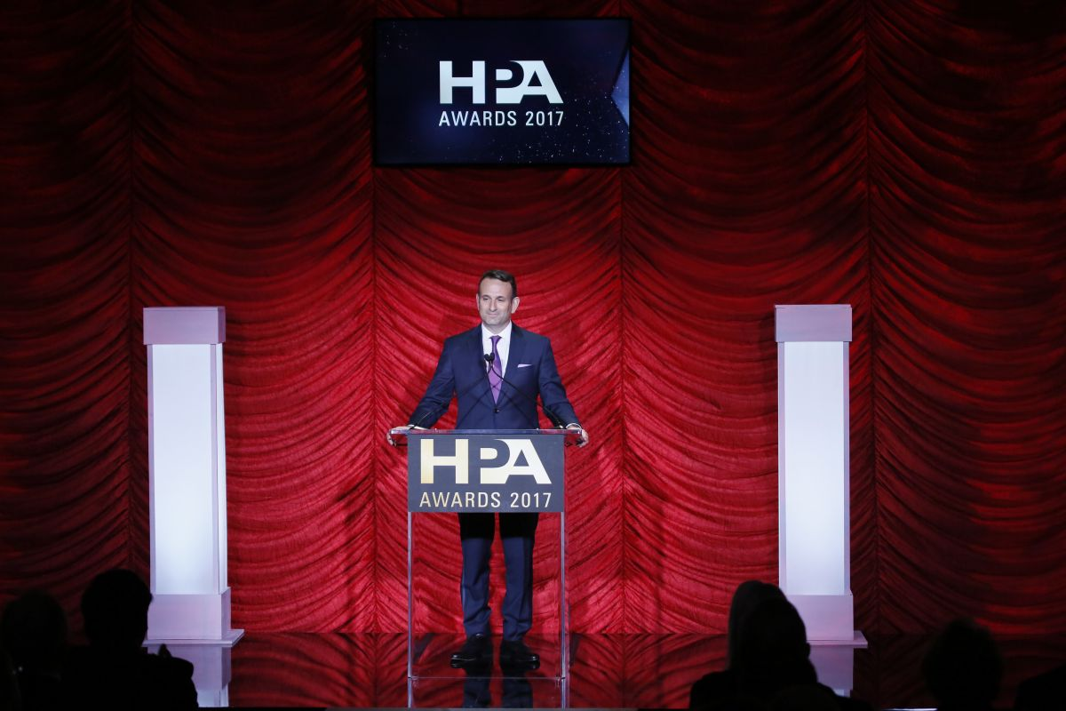 Hollywood Professional Association President Seth Hallen welcomes the honorees, nominees and attendees to the 2017 HPA Awards.