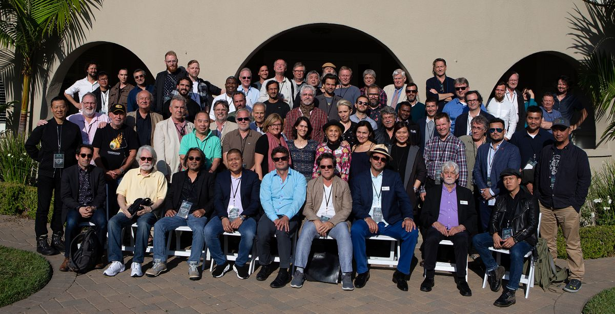 The ICS 2018 attendees assembled in front of the ASC Clubhouse.
