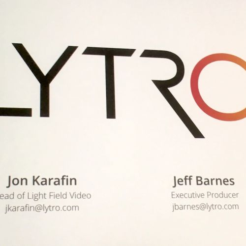 Lytro presentation by jon karafin and jeff-barnes