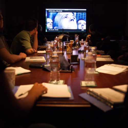 Master Class participants screen relevant clips on Day 1 at the Clubhouse.