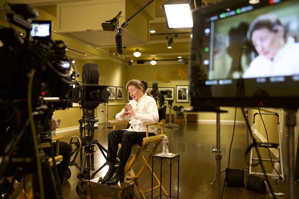 Interviewed at the ASC Clubhouse, Lothian Toland-Skelton discusses her father's work beside the Mitchell BNC he'd used for decades on numerous notable films.