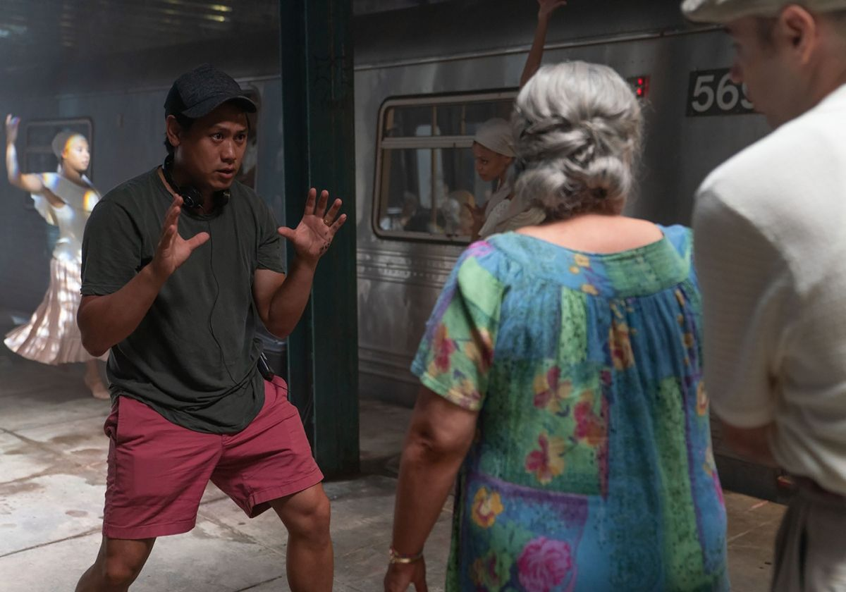 """In the phantasmagorical musical sequence """"Paciencia y Fe,"""" set in a subway, Abuela Claudia (Olga Merediz) reflects on her life as an immigrant from Cuba."""