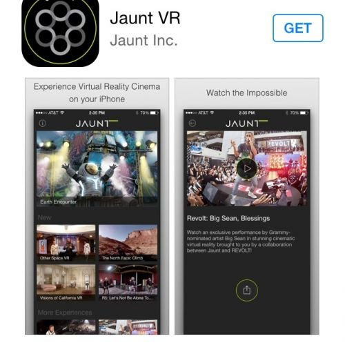 Jaunt VR on the iPhone App Store -thefilmbook