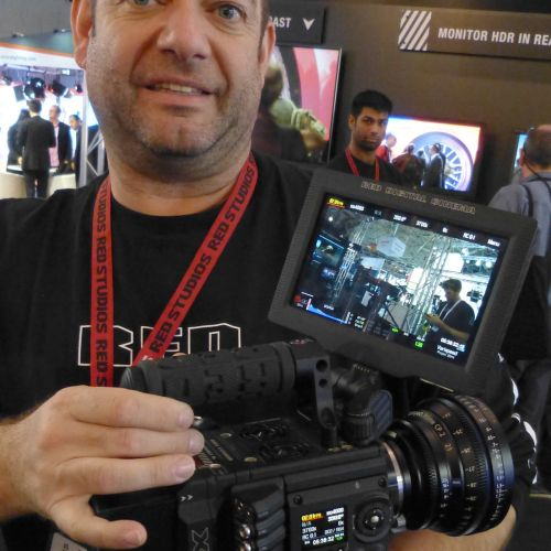 Jeroen Hendriks holding the Red Weapon at IBC (Credit: Benjamin B)
