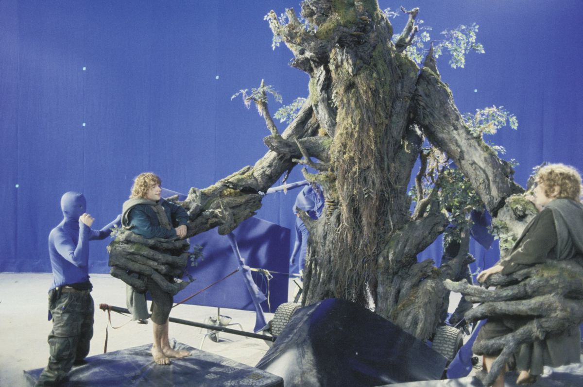 After stumbling into the Fangorn Forest, intrepid hobbits Pippin (Dominic Monaghan) and Merry (Billy Boyd) find themselves caught in the clutches of a living tree.