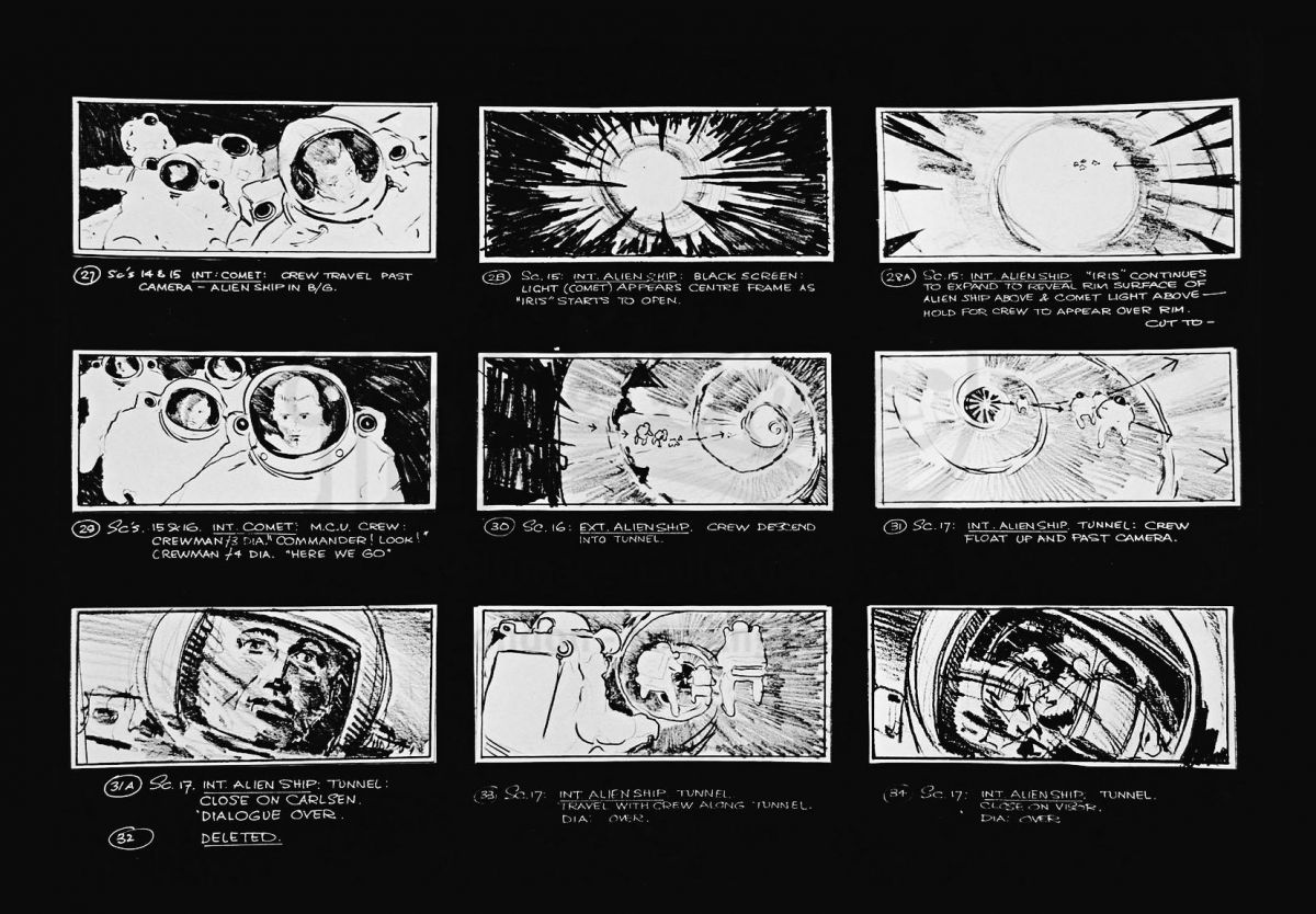 "For visual effects supervisor John Dykstra, the extensive scene featuring astronauts investigating an alien spaceship and discovering the film's ""space vampires"" would be the most complex. It required careful planning in prep, including precise storyboards, and the close collaboration with all other departments."