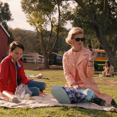 "Betty (January Jones) joins her son Bobby (Mason Vale Cotton) on a school outing in the episode ""Field Trip,"" directed by Christopher Manley, ASC, and shot by M. David Mullen, ASC."