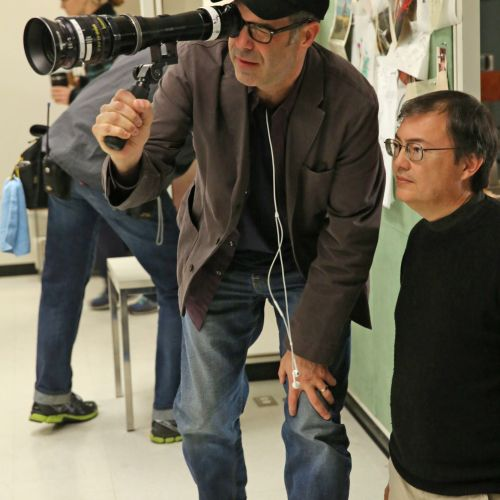 "Wearing his director's cap for the episode ""Field Trip,"" Christopher Manley, ASC, sets up a shot with cinematographer M. David Mullen, ASC."