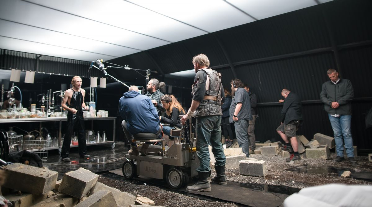 Executing a dolly shot as Red meets the Chemist.