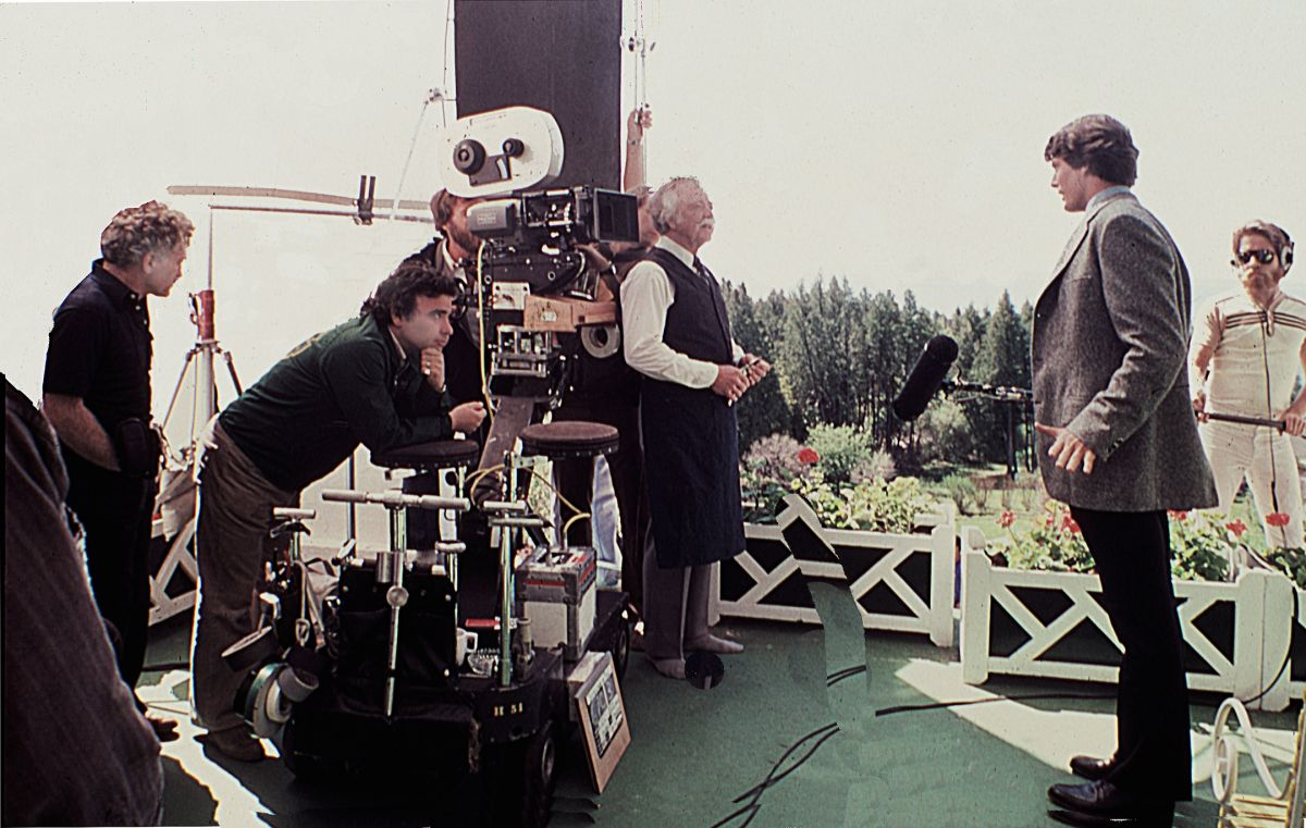 Mankofsky (left), and director Jeannot Szwarc capture an angle on Reeve.