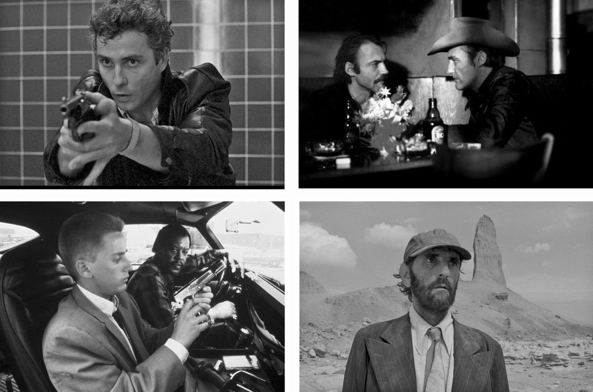 Frequently working in the U.S., Müller brought a distinct, stylized vision of America to the screen with such films as (from top, left) To Live and Die in LA (1985; directed by William Friedkin), The American Friend (1977; Wim Wenders), Paris Texas (1984; Wim Wenders) and Repo Man (1984; Alex Cox).