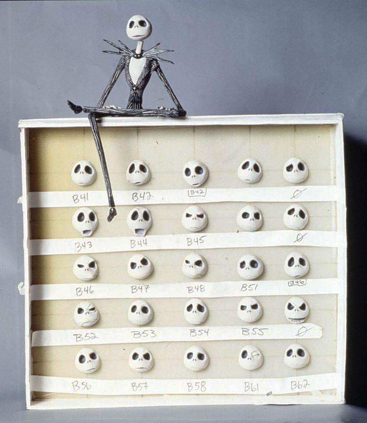 Jack Skellington, a man of many emotions — made possible through an array of substitution faces.