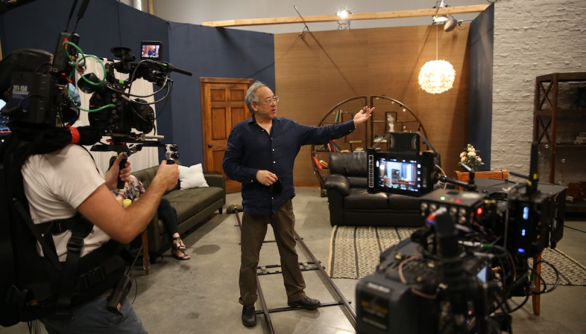Shooting a lighting demo for the ASC Online Master Class with instructor Larry Fong, ASC.