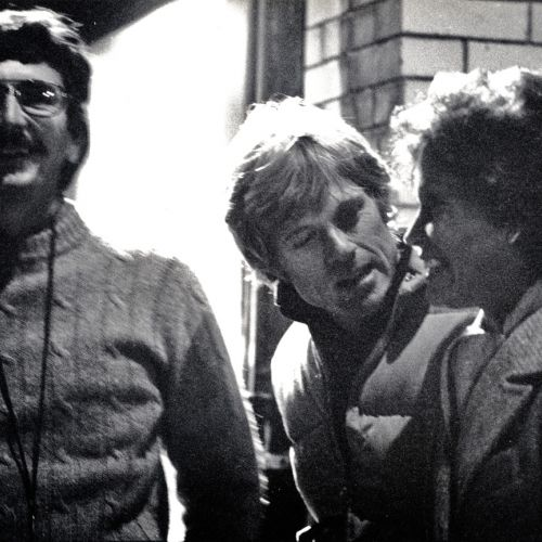 Cinematographer John Bailey (left) with director Robert Redford and actress Mary Tyler Moore on the set.
