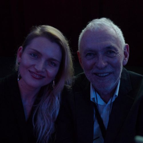Camerimage presenter Justyna and Nigel Walters