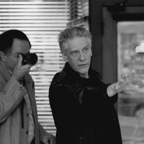 Peter Suschitzky and David Cronenberg on set of History of Violence-