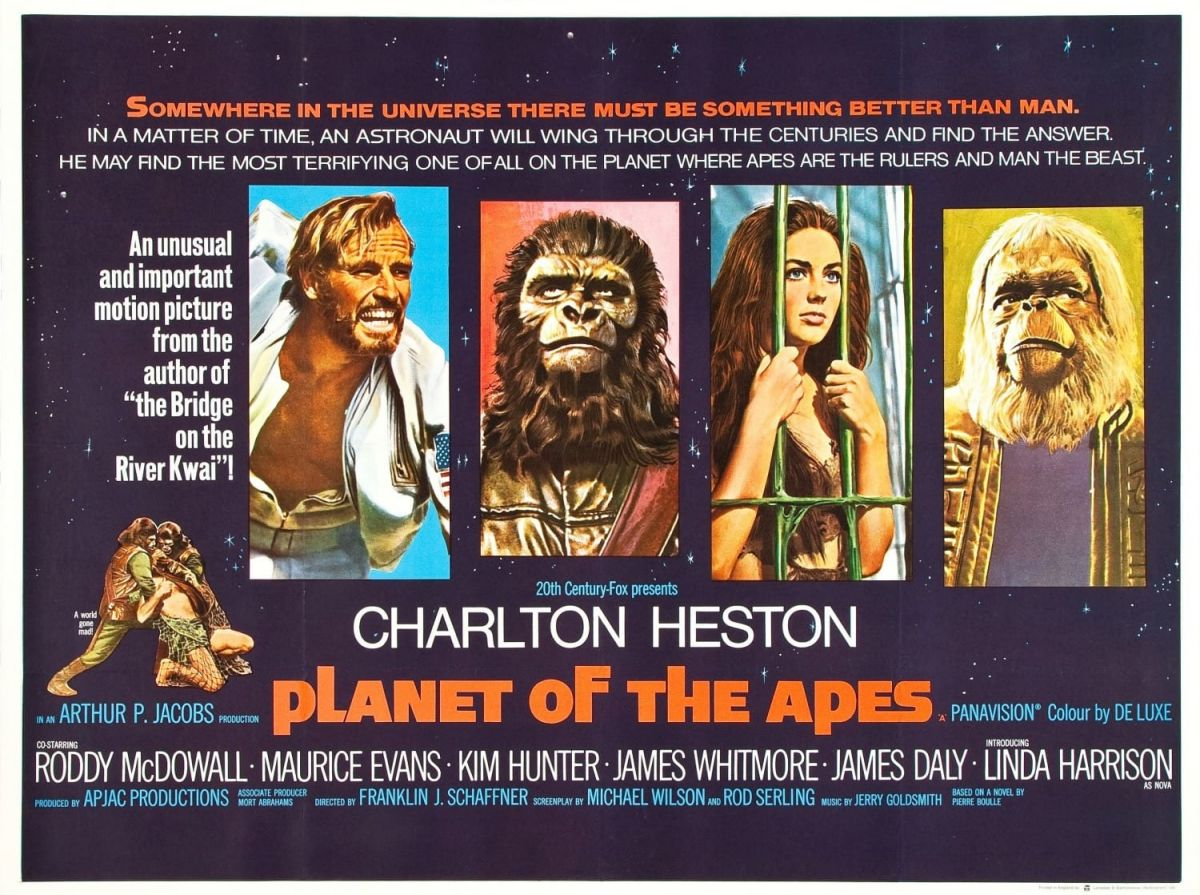20th Century Fox's UK Quad Poster for Planet of the Apes.