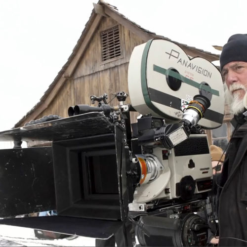 Robert Richardson, ASC, with System 65 Studio camera (from featurette)
