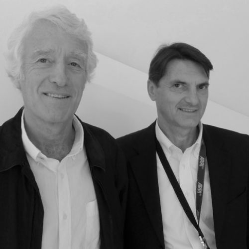 Roger Deakins, ASC, BSC and Arri's Franz Kraus - photo Benjamin B