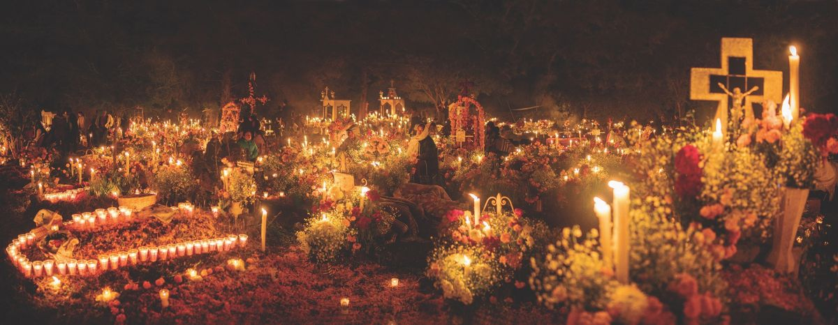 Goldblatt captured this panorama at 3:15 a.m. on the Day of the Dead in the Mexican countryside, near Cherán and Pátzcuaro.