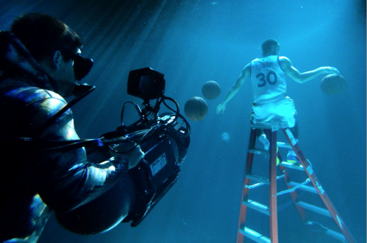 "Takahashi gets an angle on Stephen Curry for Kaiser Permanente's ""Overcomes"" commercial, again with an Alexa Mini housed in an RAC Mk5. The spot was the bronze winner at the 2017 Clio Awards."