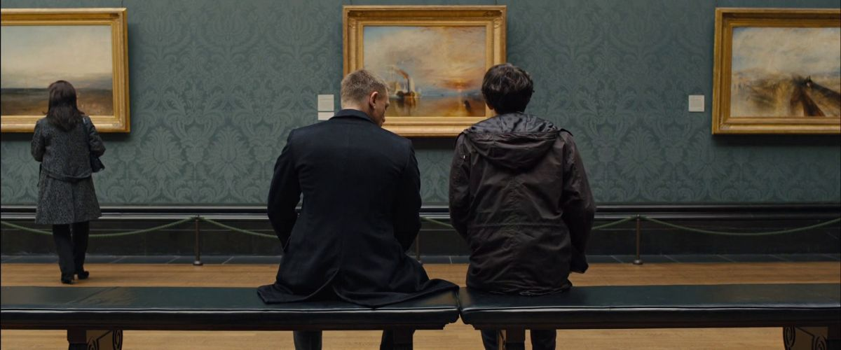 """Bounced light was also used to capture closeups for a sequence in which Bond meets his new quartermaster (Ben Whishaw), whom he dubs """"Q,"""" in London's National Gallery. Deakins exploited the gallery's enormous skylight to lend the scene a natural ambience."""