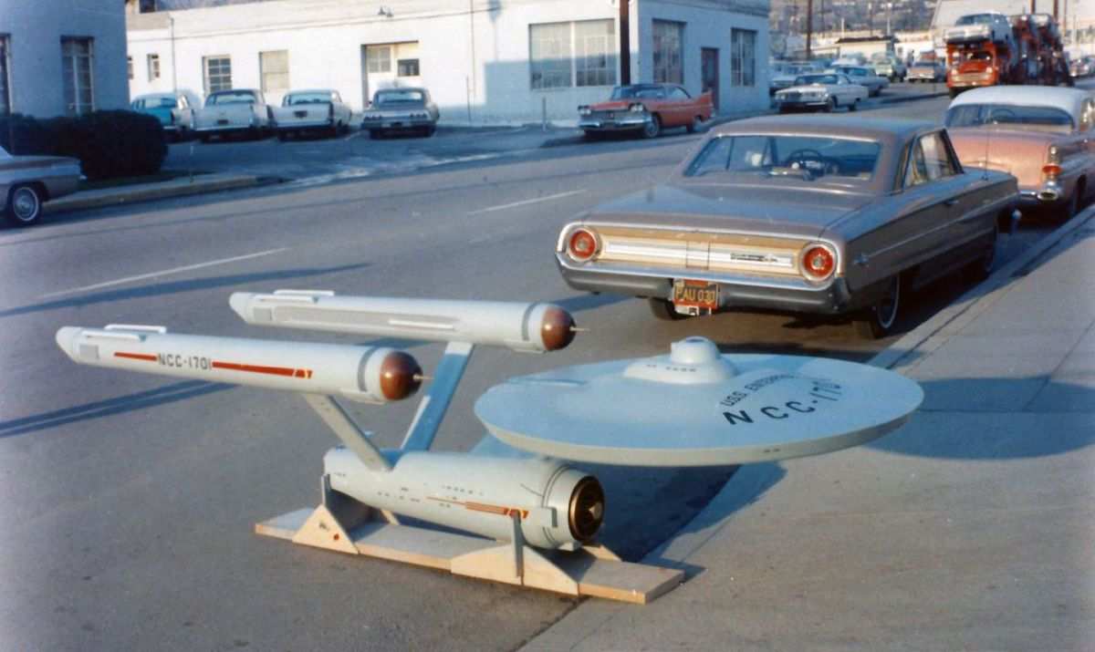 The original Enterprise model. Image courtesy of the Smithsonian Conservation Lab.