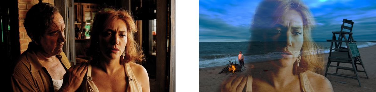 Images 31 - Humpty and Ginny and 32 - Ginny, his son with fire on the beach