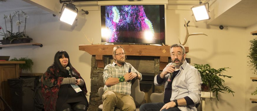 Sundance 2018 01 20 Asc Canon Panel Shooting Cinematic Vr Awavena Lead Artist Lynette Wallworth And Dp Greg Downing Jay Holben During Panel 2 Featured