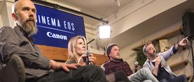 Sundance 2018 01 20 Asc Canon Panel Documentary Cinematography Graham Willoughby Wont You Be My Neighbor Laela Kilbourn This Is Home And Max Preiss The Trade Jay Holben Unwarped During Panel 7 Copy