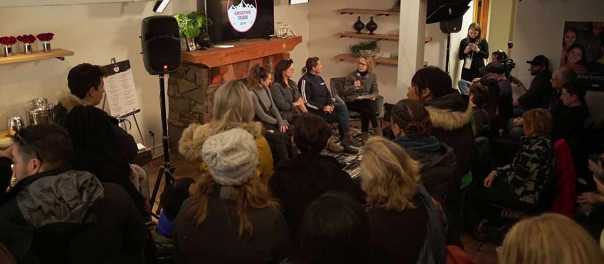 The event brought out a standing-room-only crowd at the Canon Creative Studio and streamed live via Facebook.