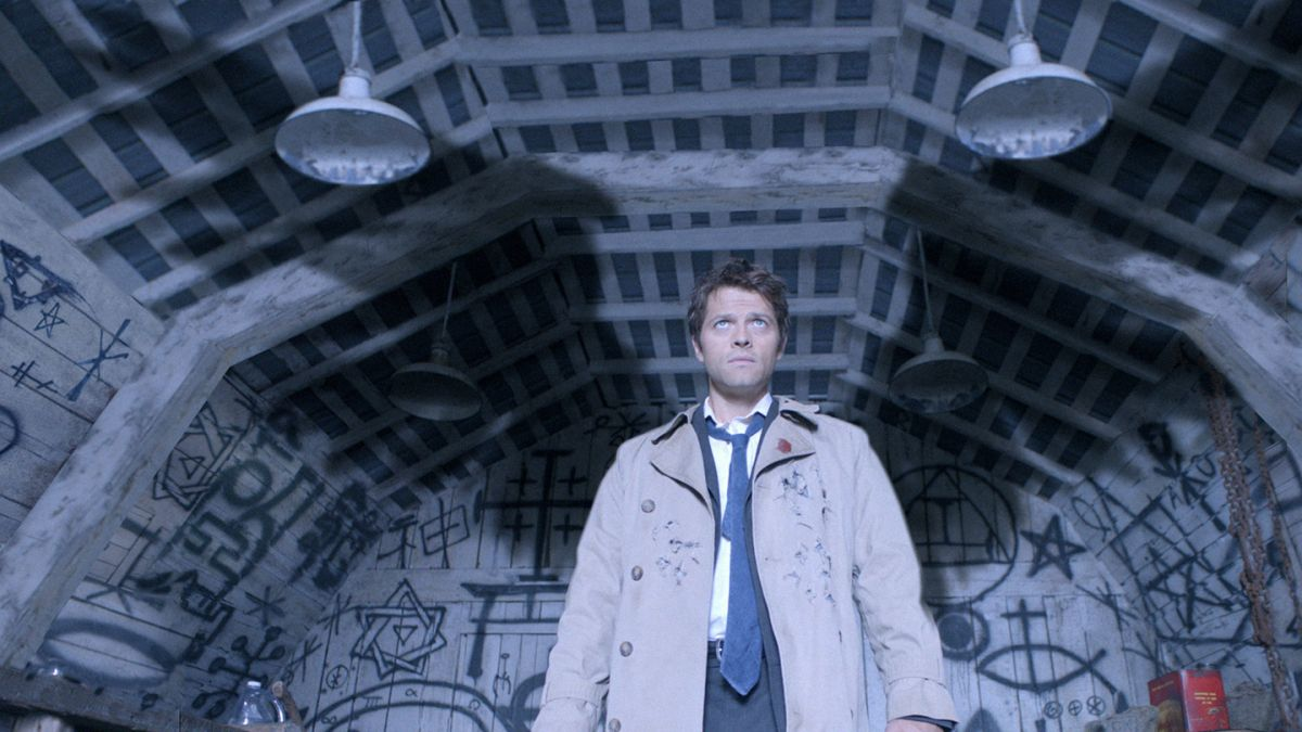 "Castiel spreads his wings in the Season 4 episode ""Are You There God? It's Me, Dean Winchester."""