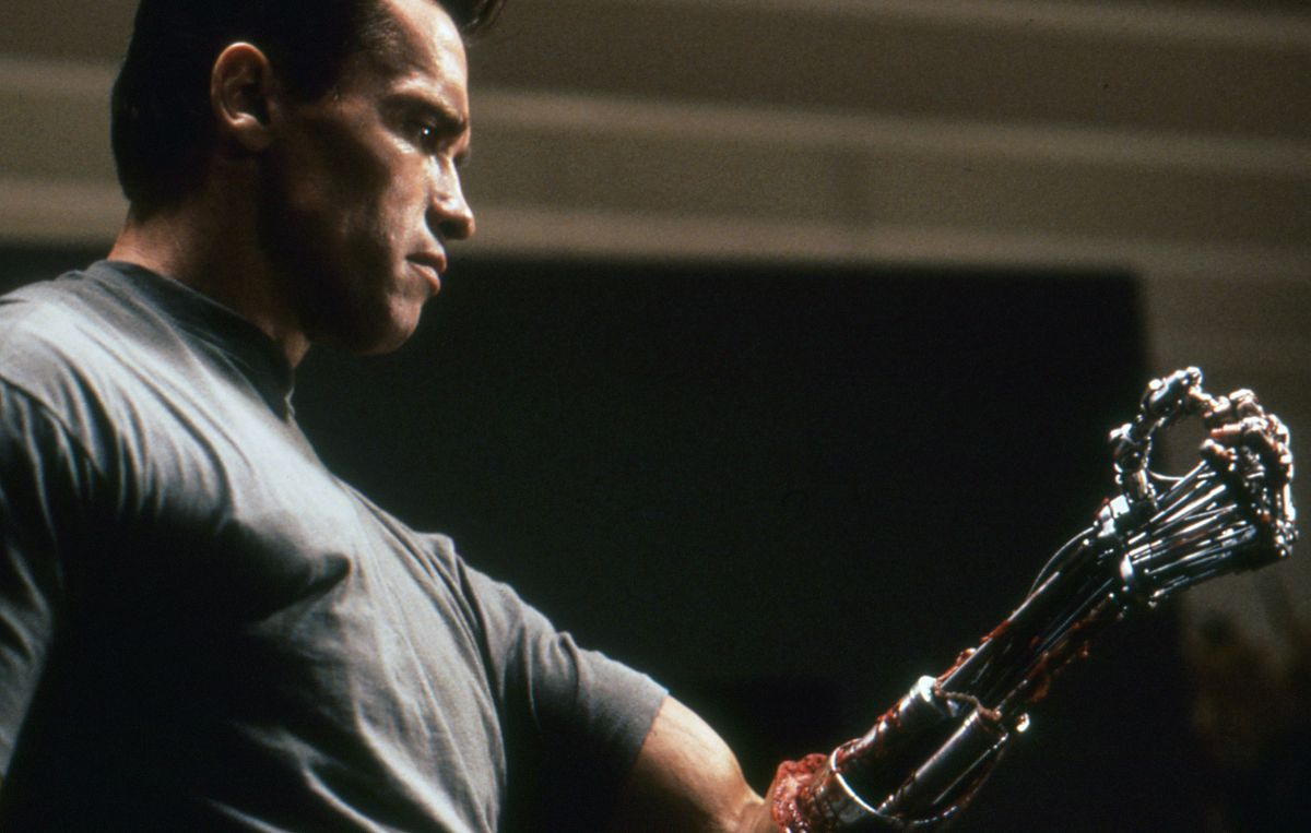 The Terminator reveals some hard truths to Cyberdyne scientist Miles Dyson.