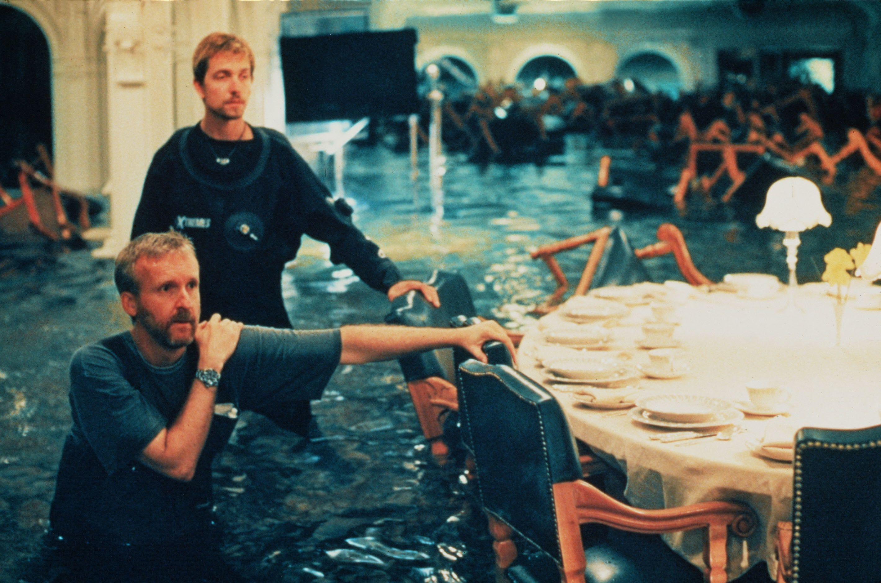 Titanic 20th anniversary russell carpenter asc the - Was the titanic filmed in a swimming pool ...