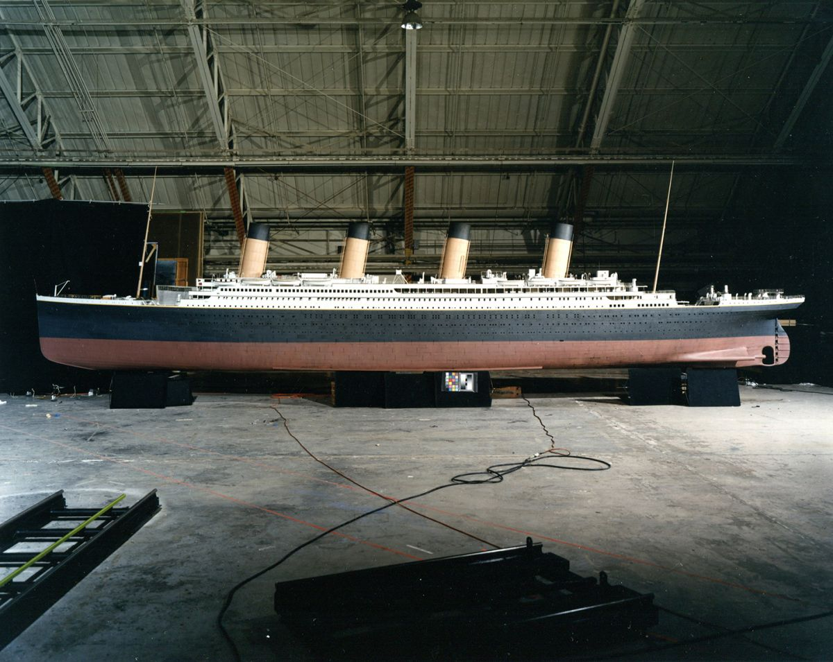 The 45'-long hero Titanic model built at Digital Domain. (Photo by Andrew Harvey)