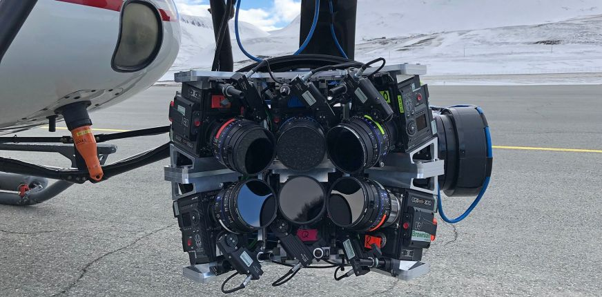 Typhon2 Six Camera Array Mounted On Helicopter