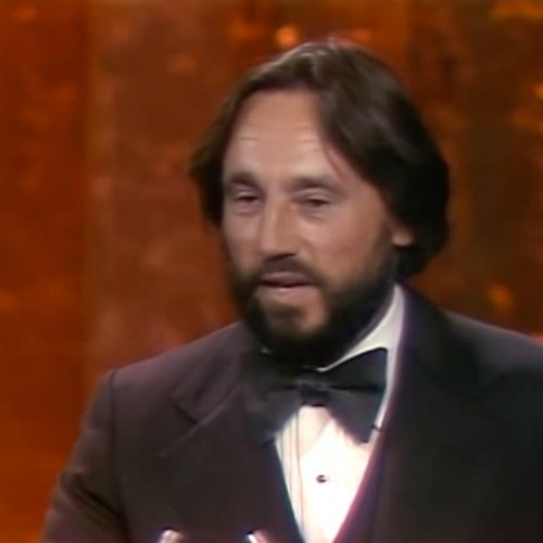 Vilmos Zsigmond accepting his Oscar for Close Encounters in 1978