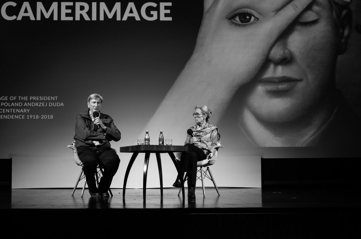 John Bailey and Carol Littleton at this year's Camerimage International Festival. (Photo: Anna Rusilko)