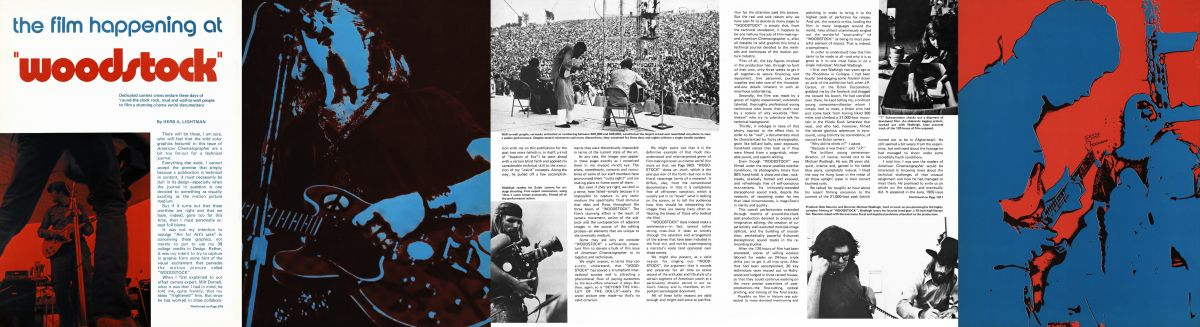 "The magazine layout for its October 1970 Woodstock coverage was ""far out"" — a reflection of the film's subject matter and creative approach."