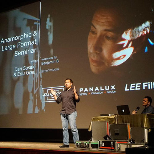 Panavision's Dan Sasaki gave a wonderful presentation about anamorphic and large format -photo AFC