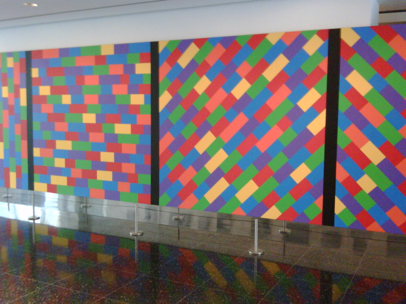 moma lewitt mural at Titus  Theaters