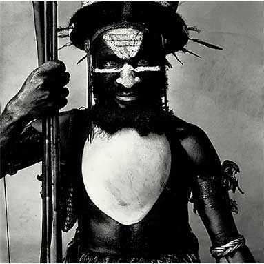 Tribesman from Lalibu in the South Highlands, New Guinea.