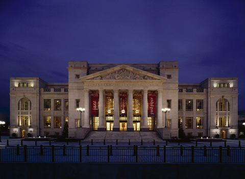 Exterior of Schermerhorn Symphony Center.