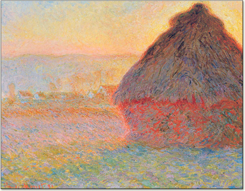Monet Haystack, Art Institute of Chicago.