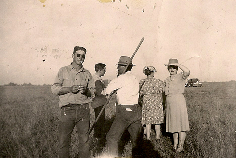 Left to right: Judy's father, uncle Bert, grandfather Bertrand, grandmothers Beulah and Josefa.