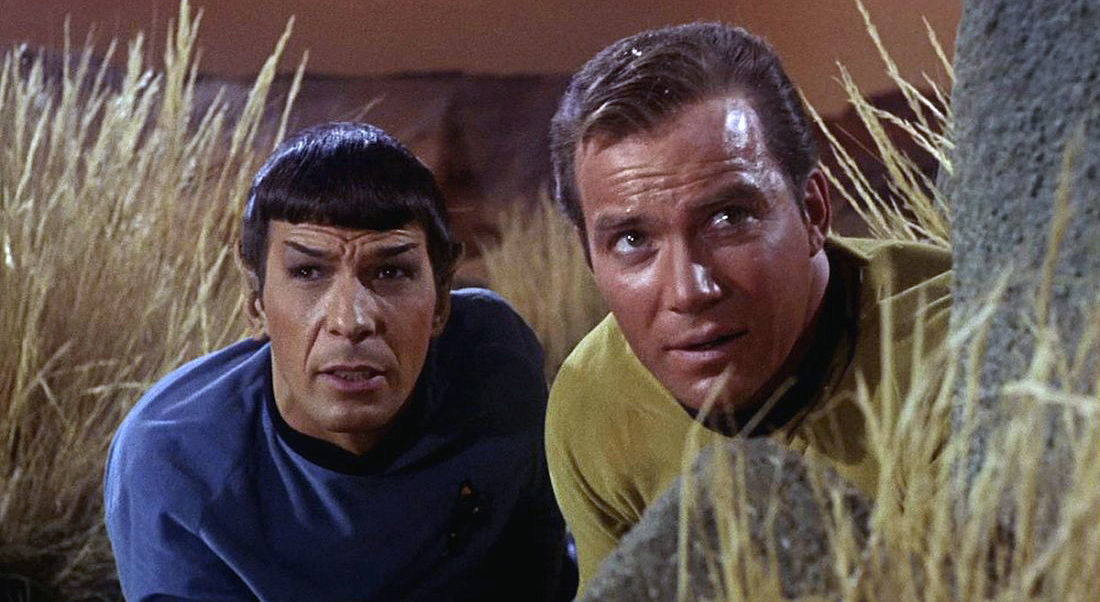 Leonard Nimoy And William Shatner In 'Star Trek'