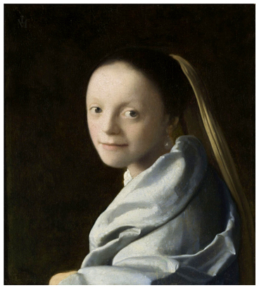 """Portrait of a Young Woman"" ca.1672 Metropolitan Museum, NYC Photo five"