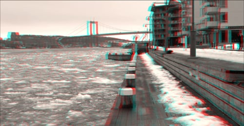 thefilmbook  3D workshop - faraway flatness - pier and bridge